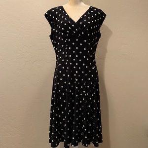 Ralph Lauren stretchy polka dot print dress